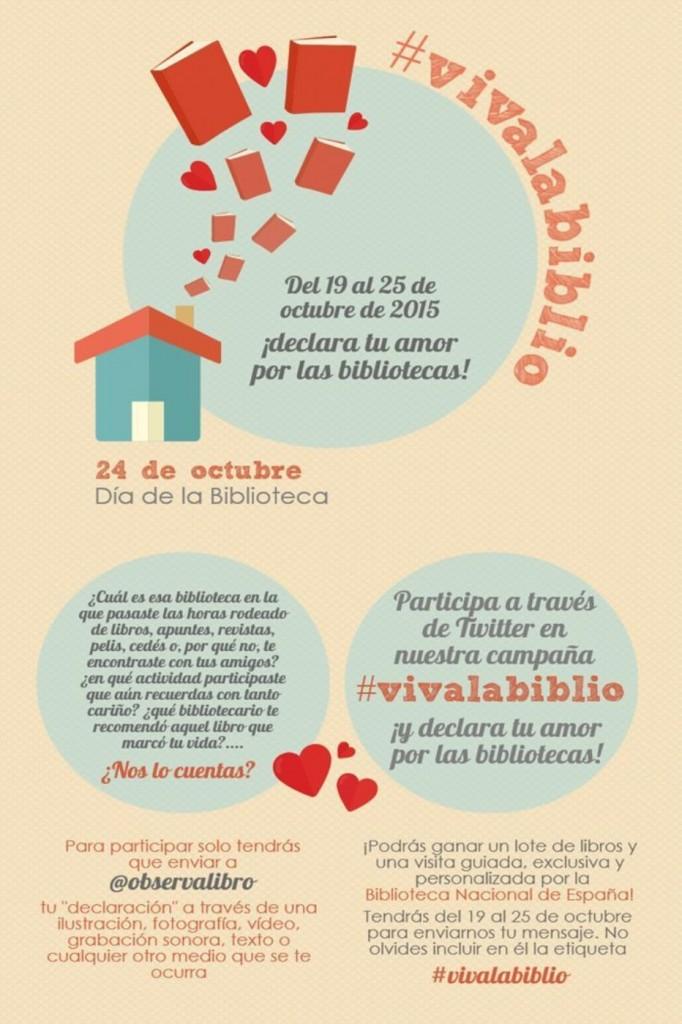 Campaña en twitter #vivalabiblio