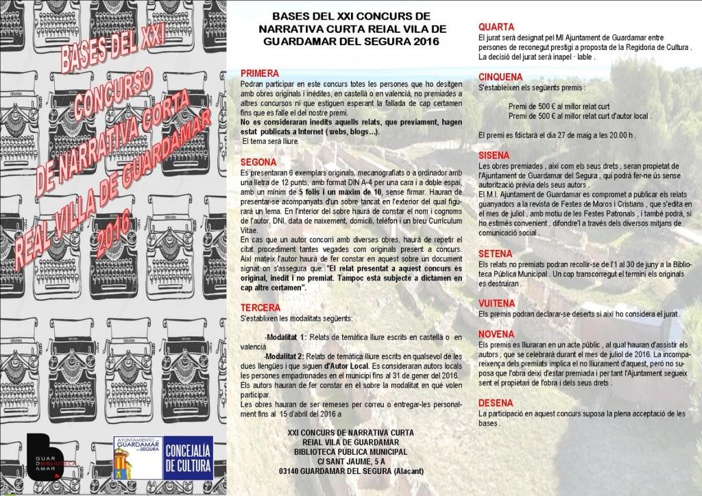 XXI CONCURS NARRATIVA - folleto 1